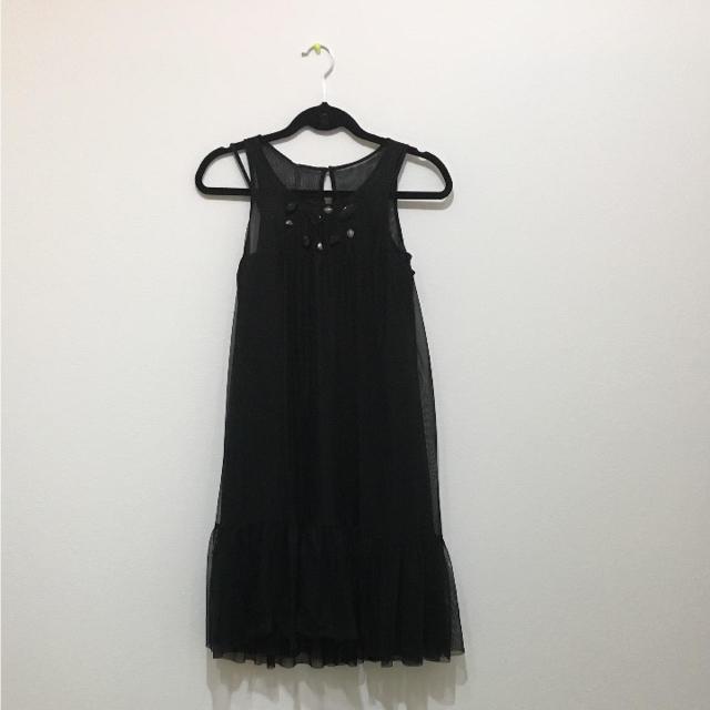 パーティドレス ブラック レディースのワンピース(ひざ丈ワンピース)の商品写真