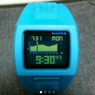 アディダス(adidas)のNIXON LODOWN2 ニクソン ローダウン  クロコベルト 美品 激レア(腕時計(デジタル))