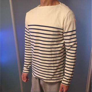 ムジルシリョウヒン(MUJI (無印良品))のrika.s'shop様専用!!無印良品 ボーダーボートネックトップス(Tシャツ/カットソー(七分/長袖))