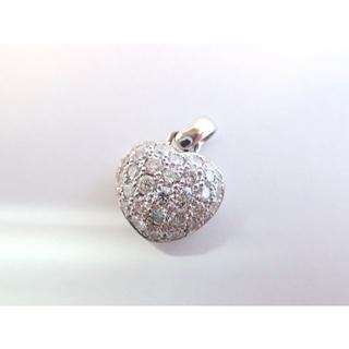 ■東大阪マルヨ質■1.5ct■K18■ぷっくらハートパヴェダイヤモンドトップ(ネックレス)