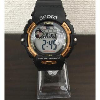新品未使用!sport スポーツ ウォッチ 腕時計 防水 ゴールド(腕時計(デジタル))