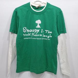 ピーナッツ(PEANUTS)のG16 中古 レディース PEANUTS スヌーピー プリント 長袖シャツ M(Tシャツ(長袖/七分))