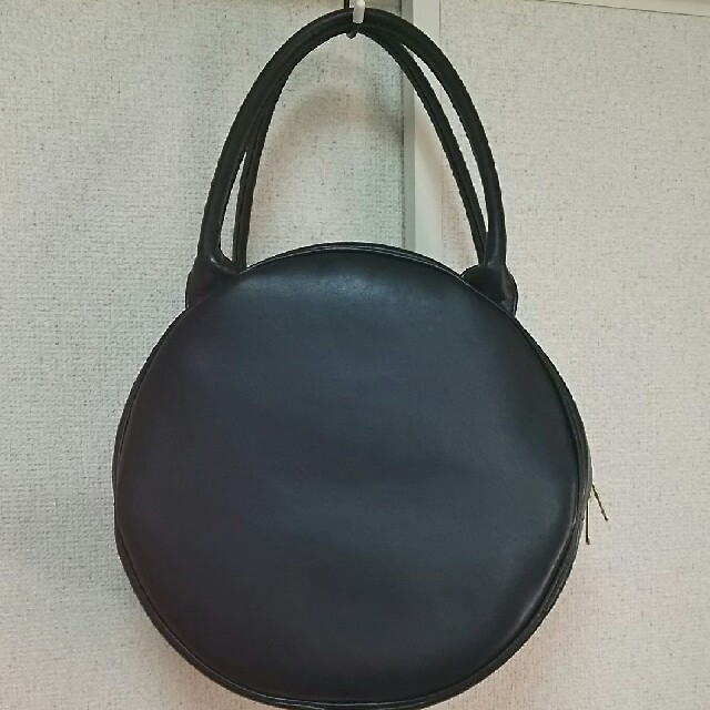 Leur Getter(ルルゲッタ)のルルゲッタ*丸型リボンバッグ*黒 ブラック*Leur Getter レディースのバッグ(ハンドバッグ)の商品写真