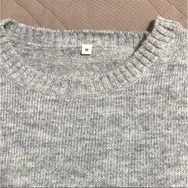 グレーニット Mサイズ メンズのトップス(ニット/セーター)の商品写真