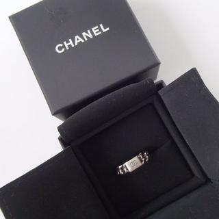 シャネル(CHANEL)のCHANEL シャネル ビッグ チェーン プレート ココマーク リング 12号(リング(指輪))