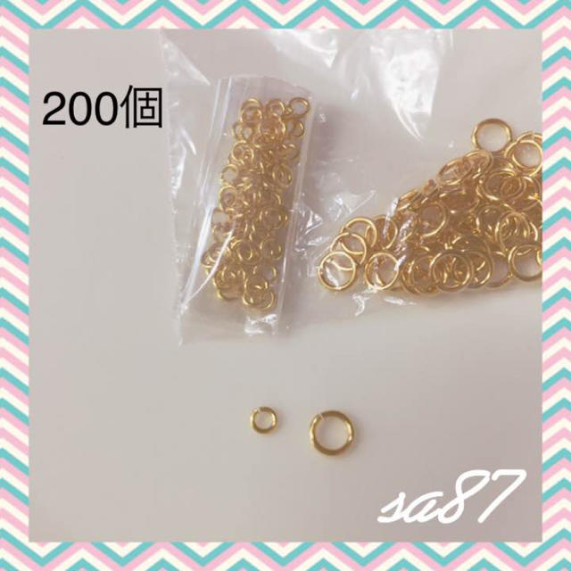 ゴールド 丸カンセット 丸カン パーツ ハンドメイドの素材/材料(各種パーツ)の商品写真