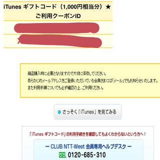 アップル(Apple)のiTunes 2000円分(その他)