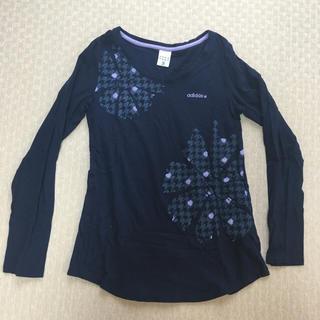 アディダス(adidas)の【adidas(アディダス)】 トップス ロンT 長袖 紫 紺 ネイビー M(Tシャツ(長袖/七分))
