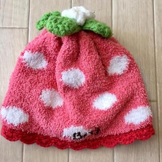 ビッツ(Bit'z)のビッツ BIT'Z ベビー ニット帽 イチゴ 44〜46cm フリース(帽子)