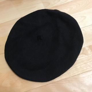スピンズ(SPINNS)の黒 ベレー帽(ハンチング/ベレー帽)