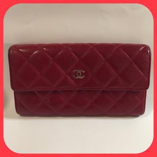 シャネル(CHANEL)のCHANEL 長財布 レッド 内側がとっても綺麗!!(財布)