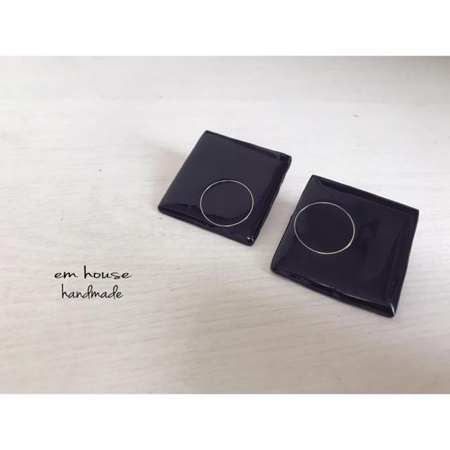 ブラックピアス レディースのアクセサリー(ピアス)の商品写真