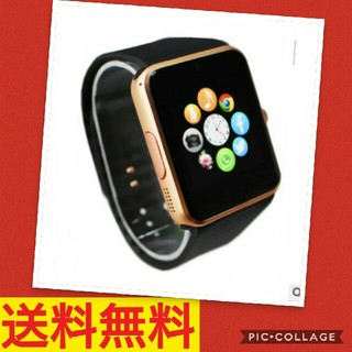 【あと1つ】ゴールド×黒☆大人気☆スマートウォッチ(腕時計(デジタル))