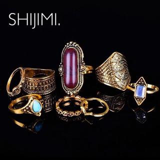 ザラ(ZARA)の【Import≫指輪セット】8個セット 高品質 リング gold お洒落 個性的(リング(指輪))