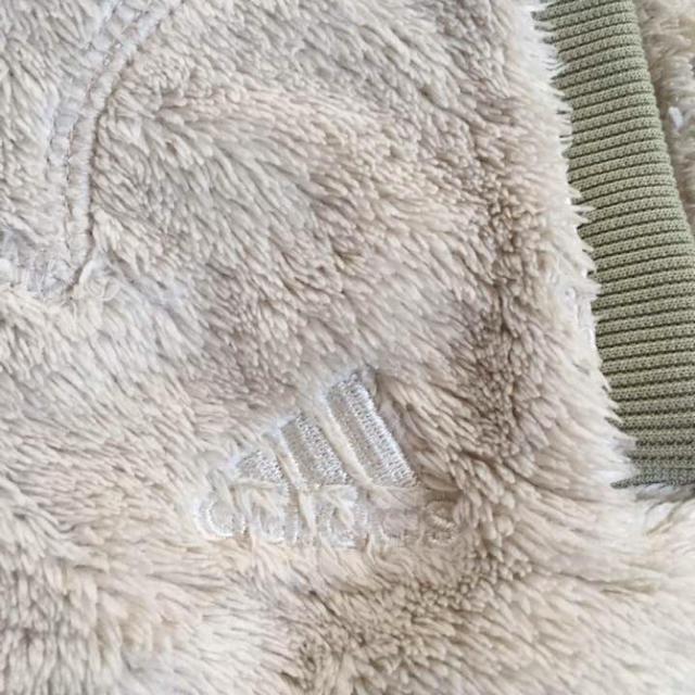 adidas(アディダス)のadidas モコモコパーカー キッズ/ベビー/マタニティのキッズ服 女の子用(90cm~)(ジャケット/上着)の商品写真
