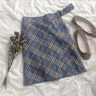 ロキエ(Lochie)の♡ burberry skirt ♡(ひざ丈スカート)