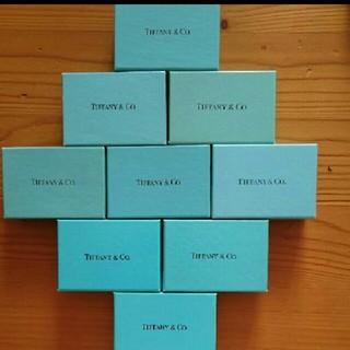 ティファニー(Tiffany & Co.)の格安!ティファニーの空箱9個セット!(その他)