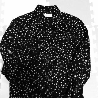 サンローラン(Saint Laurent)のサンローランパリ スターシャツ 黒白 17ss 正規 三代目jsb登坂(シャツ)