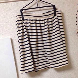 ローリーズファーム(LOWRYS FARM)のLOWRYSFARM 紺ボーダースカート(ミニスカート)