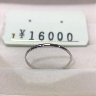 . pt900  新品  21号 男女兼用  お揃いリングにも 安心の日本製(リング(指輪))