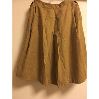 エージープラス(a.g.plus)の膝下 スエード ロングスカート(ひざ丈スカート)