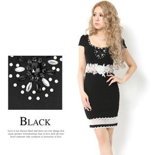 デイジーストア(dazzy store)のdazzystore ミニキャバ ドレス BLAK (ナイトドレス)
