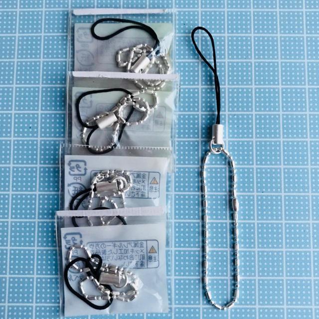 携帯ストラップ パーツ 5個セット ハンドメイドの素材/材料(各種パーツ)の商品写真