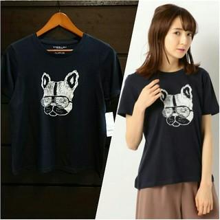 アンレリッシュ(UNRELISH)の(値下げ) 新品 フレンチブルTシャツ ネイビー(Tシャツ(半袖/袖なし))