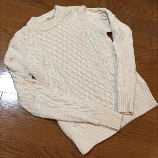 ムジルシリョウヒン(MUJI (無印良品))のざっくり 白ニット(ニット/セーター)