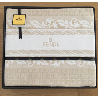 フェンディ(FENDI)のお値下げ!未使用品!【フェンディ FENDI】綿毛布 毛布 シングルサイズ  (毛布)