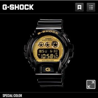 ジーショック(G-SHOCK)のgshok ブラックゴールド 値下げしました(腕時計(デジタル))