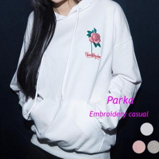 ミックスエックスミックス(mixxmix)のmixxmix 薔薇刺繍パーカー(パーカー)