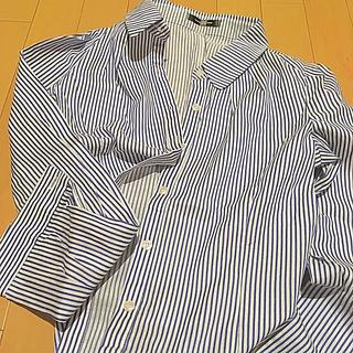 ディアザムラーソロ(Der SAMMLER SOLO)のとろみシャツ ストライプ(シャツ/ブラウス(長袖/七分))