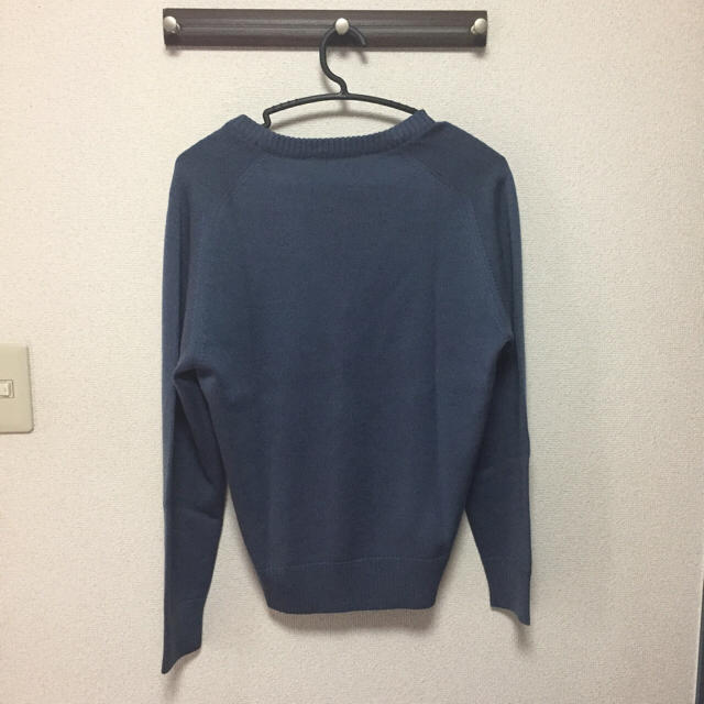 Paul Smith(ポールスミス)の美品 古着 Vネック フランス製  ブルー ニット 菅田将暉 メンズのトップス(ニット/セーター)の商品写真