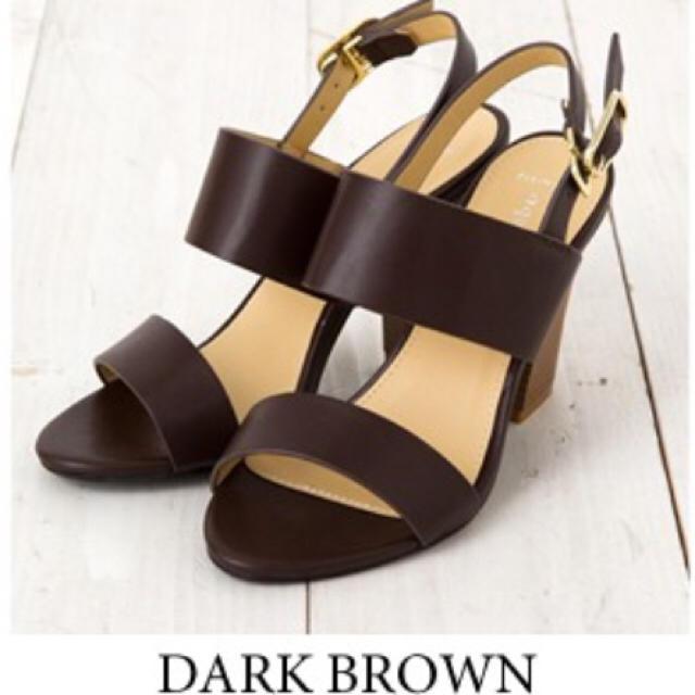 宅急便込【試着のみ】Wストラップ サンダル ダークブラウン LL レディースの靴/シューズ(サンダル)の商品写真