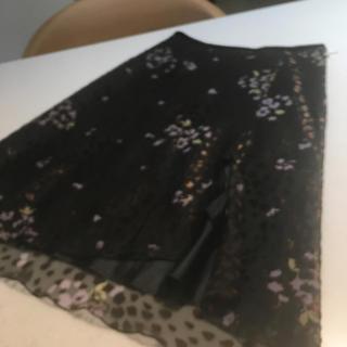 ヨンドシー(4℃)の4°C シフォンスカート(ひざ丈スカート)