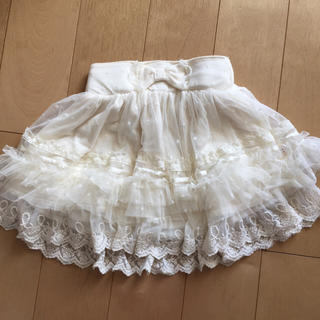 リズリサ(LIZ LISA)のリズメロ 白 チュールスカート 110(スカート)