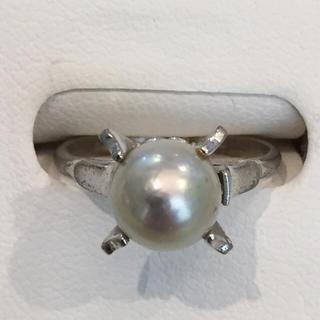 訳あり 8mm 真珠 リング silver 20170122-3i(リング(指輪))