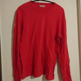 トイレット(TOILET)のパイドパイパー Toilet トイレット 長袖Tシャツ 赤 L 化石プリント(Tシャツ/カットソー(七分/長袖))