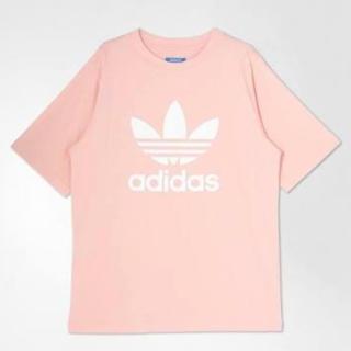 adidas , アディダス オリジナルス Tシャツ ピンクの通販 by ぷりんぷるんぷりん|アディダスならラクマ