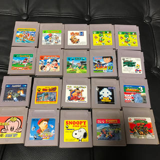 ゲームボーイ(ゲームボーイ)の中古 ゲームボーイソフト 20本セット(家庭用ゲームソフト)