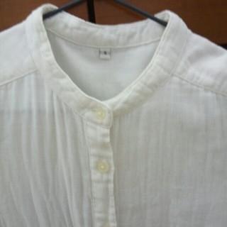 ムジルシリョウヒン(MUJI (無印良品))の無印良品 ノーカラーシャツワンピース(ひざ丈ワンピース)