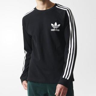 アディダス(adidas)のO【新品/即日発送OK】adidas オリジナルス Tシャツ ロンT 黒 (Tシャツ/カットソー(七分/長袖))