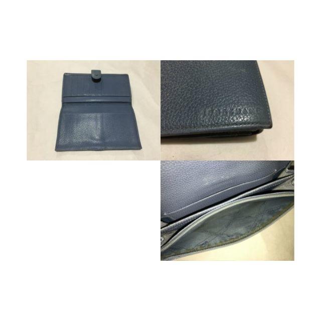 de4ca1a74cf5 LONGCHAMP(ロンシャン)のLONGCHAMPブルー系レザー二つ折り小銭入れ付き長財布