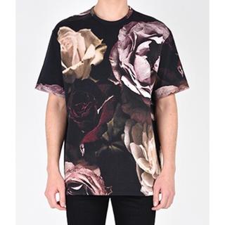 ラッドミュージシャン(LAD MUSICIAN)の☆新品☆ラッドミュージシャン サイズ42 花柄 Tシャツ フラワープリント  赤(Tシャツ/カットソー(半袖/袖なし))