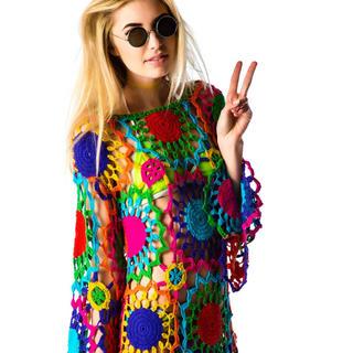 ユニフ(UNIF)のUNIF dress ワンピース ドレス カラフル 激レア ユニフ(ミニワンピース)
