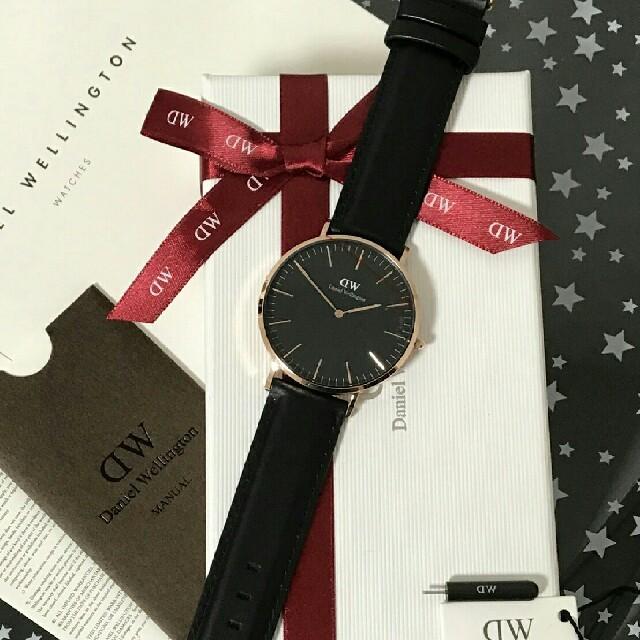 Daniel Wellington(ダニエルウェリントン)のおすすめ♪♪オールブラック♪ダニエルウェリントン腕時計 メンズの時計(腕時計(アナログ))の商品写真
