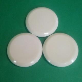 ポイント消化 直径5cm カラーマグネット ホワイト 3個セット(その他)
