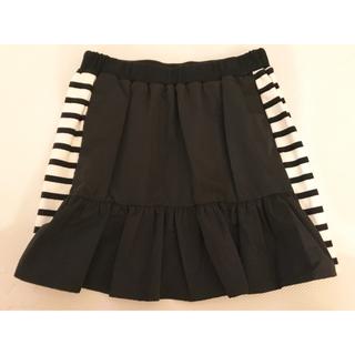 ニーナミュウ(Nina mew)の美品 Nina mew ボーダー ニット 裾フレア スカート(ミニスカート)