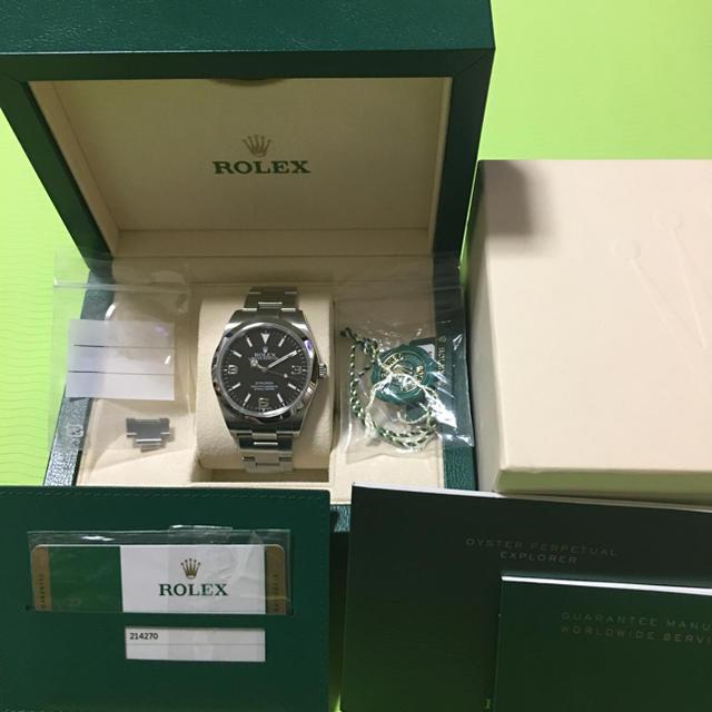 d06fd83329 ROLEX(ロレックス)のエクスプローラー1 214270 ROLEX ロレックス ブラックアウト メンズの時計(